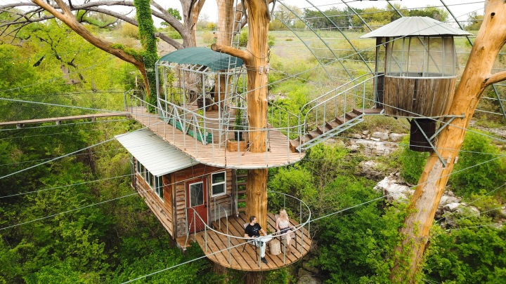 Spend the Night in a Treehouse, Zipline, and More at Cypress Valley CanopyTours